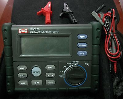 Digital Insulation Resistance Tester Megohmmeter Megger 10g Ohm 1000v Ms5203
