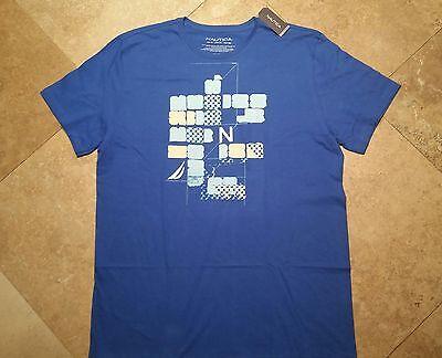 # *NWT Nautica Graphic Short Sleeve Tee Shirt 100% Cotton Blue XL