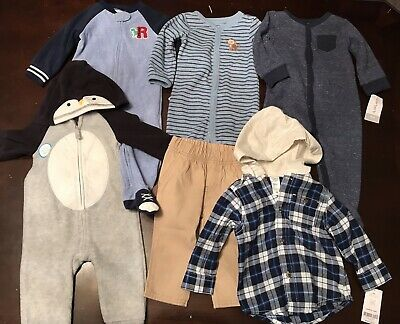 Infant Baby Boy 9 Month Carters Clothing Outfits & Sets Fleece Zip Hoodie