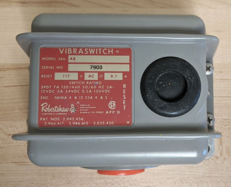 Robertshaw  Vibration Switch VIBRASWITCH Model 366-A8