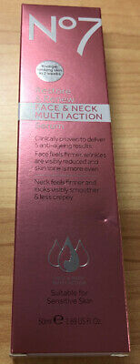 Boots No7 Restore & Renew Face & Neck MULTI ACTION Serum 50 ml 1.69 oz NEW