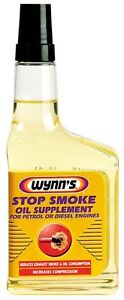 Wynns Stop Smoke OIL ADDITIVE 350ml PETROL & DIESEL ENGINES REDUCE EXHAUST SMOKE