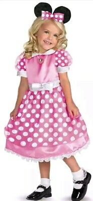 Pink Minnie Mouse Costume Size Medium 3T - 4T Kids Disney Halloween Fancy Dress](Minnie Mouse Halloween Costume 3t)