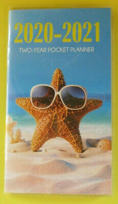 2020-21 2 Year Beach Ocean PLANNER Pocket Purse Small Calendar 2 Yr Monthly -