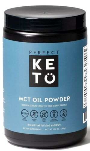 Perfect Keto MCT Oil Powder Unflavored 10.6oz BB 09/2020 Sea