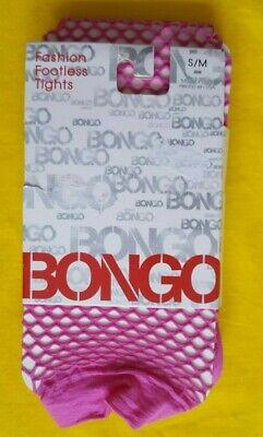 Bongo Fashion Fishnet Footless Tights Pink Rose Violet Size - Pink Fishnet Tights