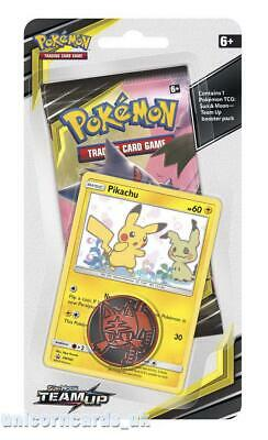 Pokemon TCG: Sun & Moon: Team Up Checklane Blister Pack: Pikachu Promo Card + Bo
