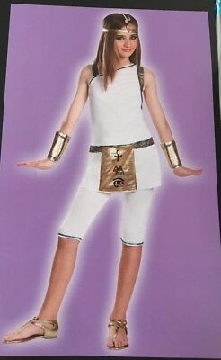 Cleopatra Egyptian Queen Girls Halloween Costume Dress Up leggings XL 12-14 New](Cleopatra Costume Girls)
