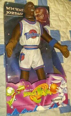 "Michael Jordan 1996 Space Jam 12"" Plush Doll EXC still attached, box scuffed"