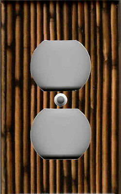 BROWN BAMBOO IMAGE HOME WALL DECOR OUTLET COVER