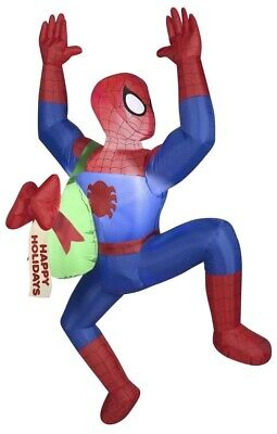 Gemmy Airblown Inflatable Hanging Spiderman 5 Ft. Christmas Decoration