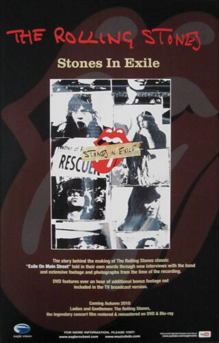 THE ROLLING STONES – EXILE ON MAIN STREET MOVIE : PROMOTIONAL POSTER
