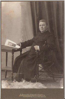 CAB Foto Feiner Herr / Geistlicher - Ruhrort / Meiderich um 1910