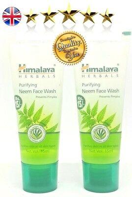 SALE - 2 x Himalaya Neem Face Wash with Turmeric -  Travel Size 15ml. Total 30ml