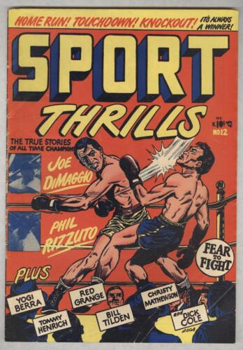 Sport Thrills #12 February 1951 VG L.B. Cole cover