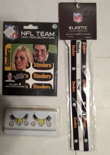 Pittsburgh Steelers NFL Fan Pack Eye Black Strips, Eye Lashe