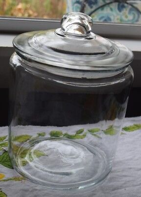 VINTAGE GLASS APOTHECARY DRUG STORE CANDY JAR CANISTER, 8