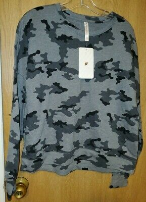 Fabletics Stacey Pullover NWT - LARGE - Mineral Camo
