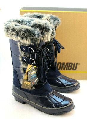 New KHOMBU Bryce Size 7 M Navy Blue Women's Winter Snow Boots RETAIL $119