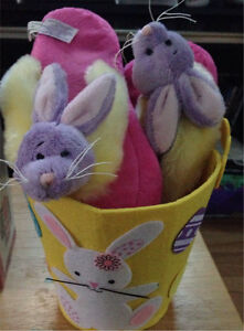 Bunny Slippers in basket