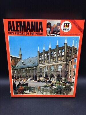 VINTAGE # RARE JIGSAW ALEMANIA GERMANY PUZZLE 70 Ages New Old Stock...