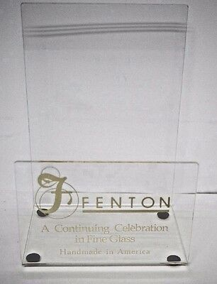 New Fenton Magazine Book Holder Display A Continuing Celebration In Fine Glass