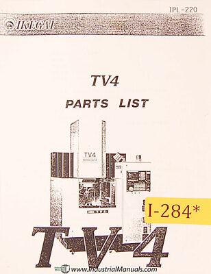 Ikegai Tv4 Machine Center Parts And Assemblies Manual