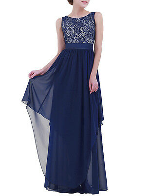Women's Formal Prom Long Cocktail Party Ball Gown Evenings Bridesmaid Dress L