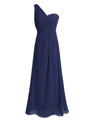 Women/'s Long One Shoulder Bridesmaids Formal Party Evening Dress Prom Ball Gown