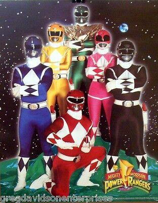Mighty Morphin Power Rangers 16x20 Cast Poster Original