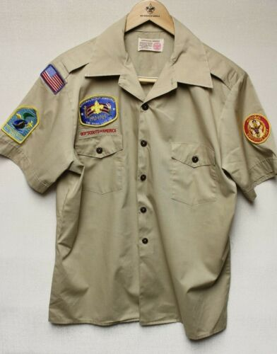 B6 BSA Scout Uniform Shirt, Size Mens Large, Good Condition, National Staff