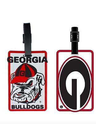 Georgia Purse (Georgia Bulldogs ID Tag Travel Bag Tag Luggage Tag - Oval G or Bulldog Head Logo )