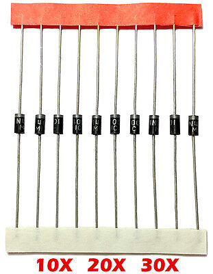 1n4001 Rectifier Diode 10pcs - 30pcs 50v 1a Do-41 Usa Seller In4001 Diodes