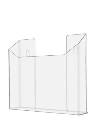 Brochure Magazine Holder Display Wall for 8.5 x 11 Literature Rack Acrylic Clear