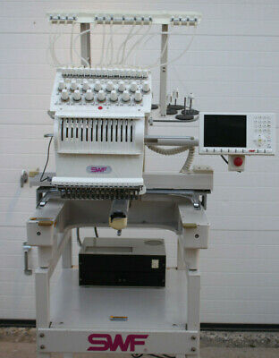 Swf 1501c Swfe-t1501c 15 Needle Commercial Embroidery Machine W Extras