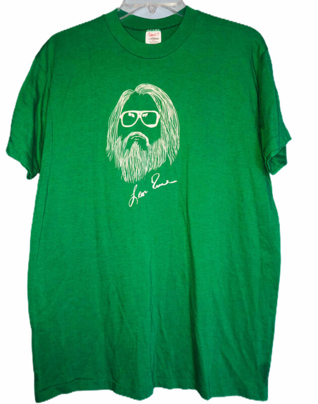 Vtg 70s 80s Leon Russell Double sided Paradise t shirt green band single stitch