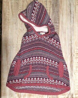 Matilda Jane Friends Forever Braylon Hooded Knit Poncho Girls Size (Jane Poncho)