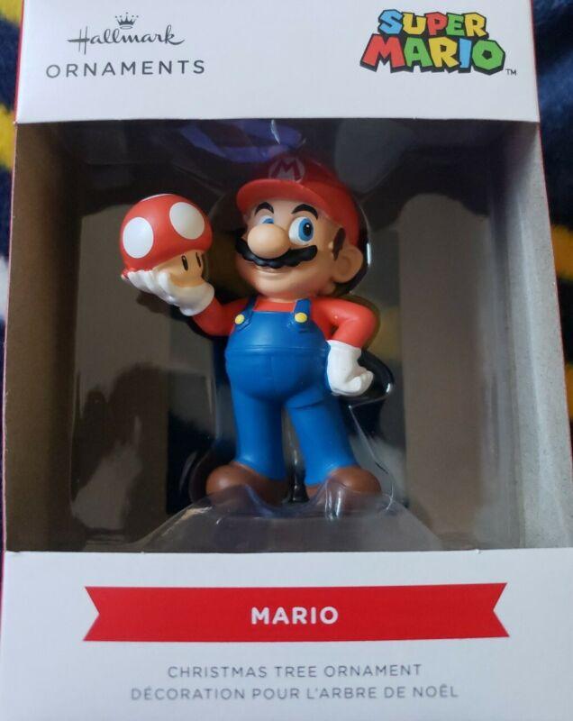 NEW 2021 Hallmark Super Mario Bros. MARIO Collectible Christmas Tree Ornament