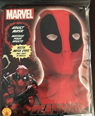 Deadpool Halloween Mask (Marvel Comics Deadpool Halloween Mask Cosplay Disguise Wade Wilson NEW IN)