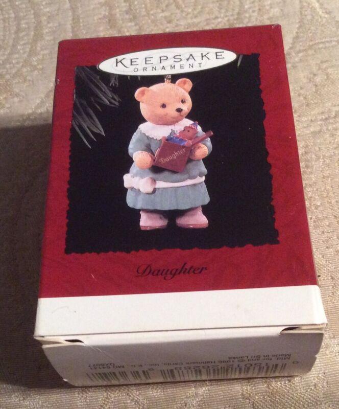 Hallmark Keepsake Ornament Daughter 1996 Christmas Bear, NIB