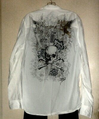 "New ""Express"" Steampunk Style Long Sleeve Shirt size M"