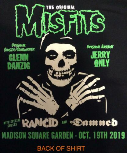 THE ORIGINAL MISFITS MSG NY EVENT SHIRT 10/19 SIZE  2X MADISON SQUARE GARDEN