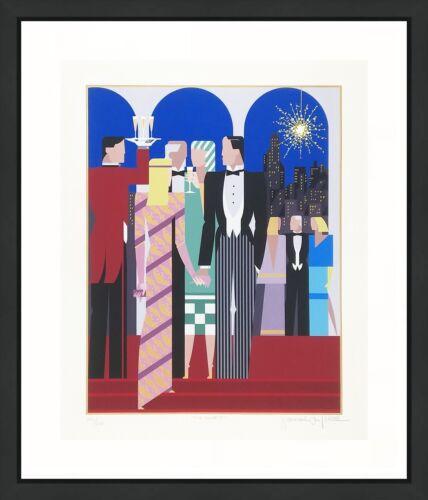 "Giancarlo Impiglia ""five Arches Ii"" 1984 | Large Signed Screenprint | Art Deco"