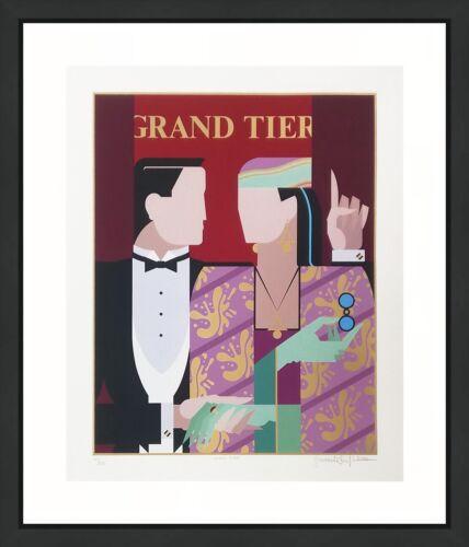 "Giancarlo Impiglia ""grand Tier"" 1984 | Large Signed Print | Art Deco | Gallart"