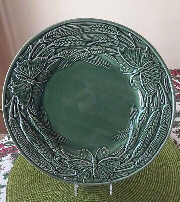 Bordallo Pinheiro PAPILLON IVY GREEN 12.5 Chop Plate/Round Platter Portugal