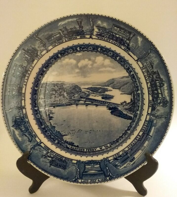 """B&O Baltimore & Ohio Railroad Dining Car China 10.5"""" Plate, Scammell"""