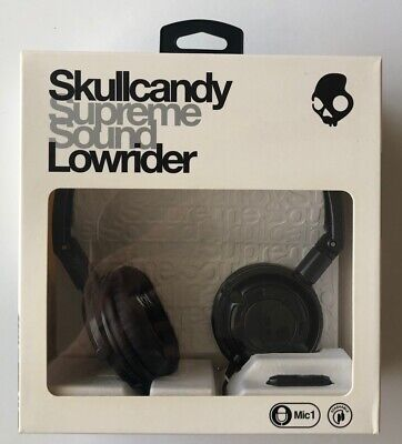 Skullcandy Lowrider Headphones in Gunmetal and Black - New