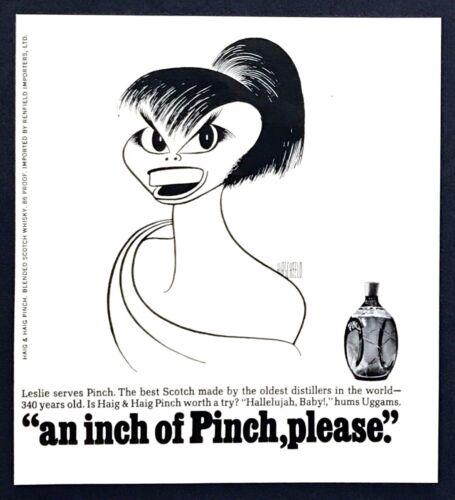 1968 Leslie Uggams portrait by Al Hirschfeld Haig Pinch Scotch vintage print ad