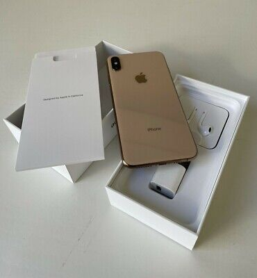 Apple iPhone XS Max 256GB Gold Unlocked A1921 AT&T T-Mobile Phone Smartphone