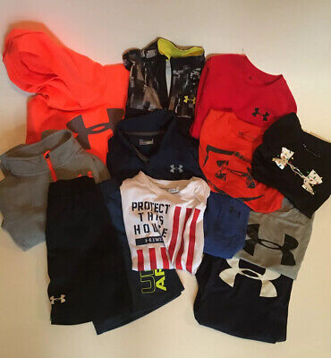 Large 13 Piece Boys Under Armour Size 6 Clothing Lot